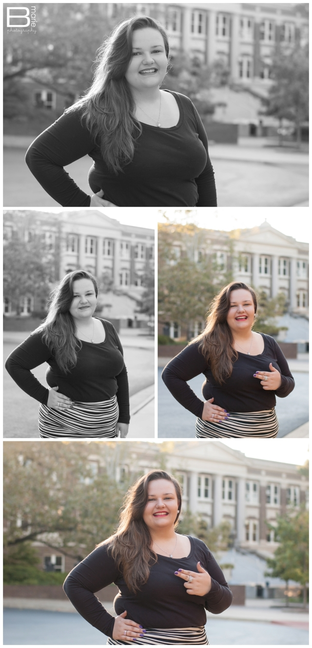 Nacogdoches photographer SFA senior portraits on campus