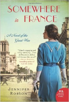 Book cover of Somewhere in France by Jennifer Robson