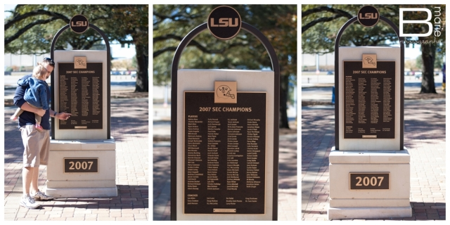Nacogdoches photographer and family spend Thanksgiving in Baton Rouge and visited the LSU campus