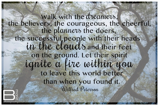 Nacogdoches photographer inspirational quote from Wilfred Peterson