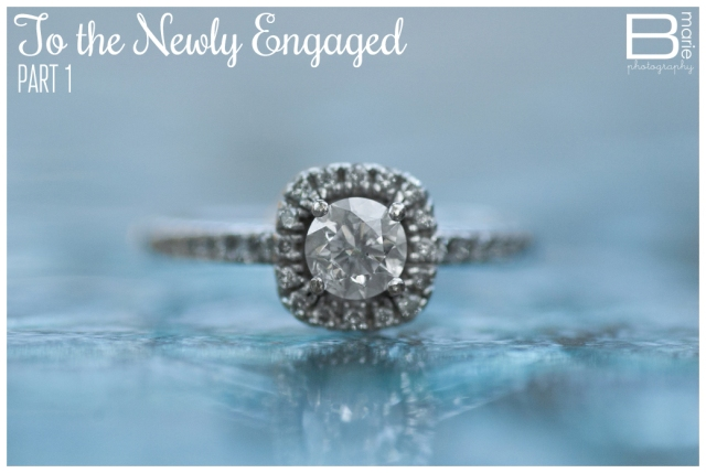 Nacogdoches photographer's advice to newly engaged people; macro photo of an engagement ring