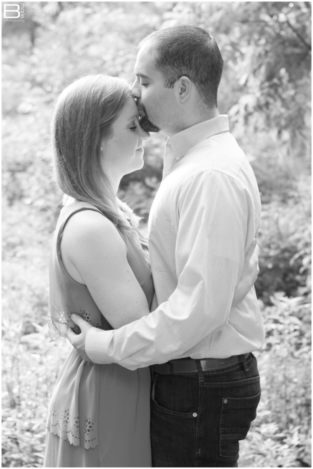 Nacogdoches photographer - black and white engagement photo in natural setting