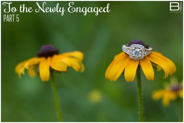 Nacogdoches photographer: To the Newly Engaged Series: detail ring shot of an engagement ring on yellow wildflowers
