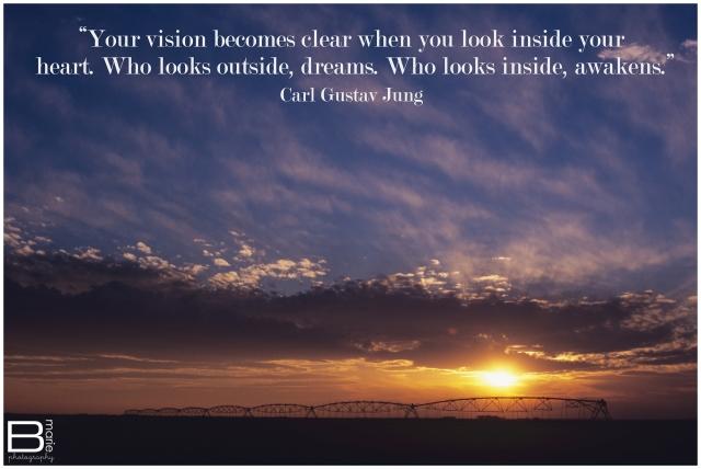 Nacogdoches photographer photo of sunset in West Texas with a quote by Carl Gustav Jung