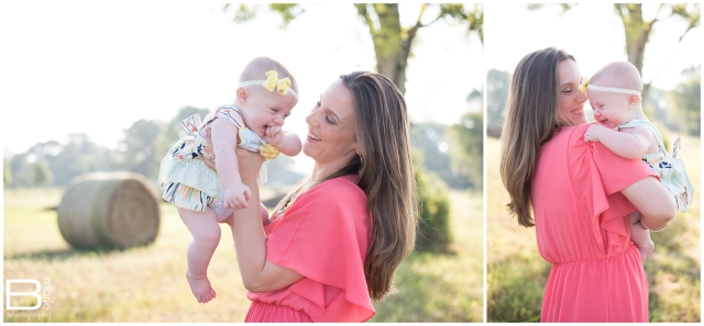 Nacogdoches photographer family portraits in a field filled with morning light