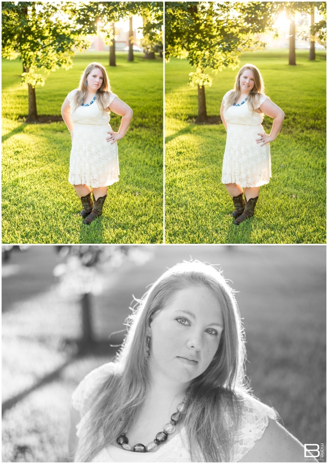 Nacogdoches photographer outdoor senior portraits on SFA campus