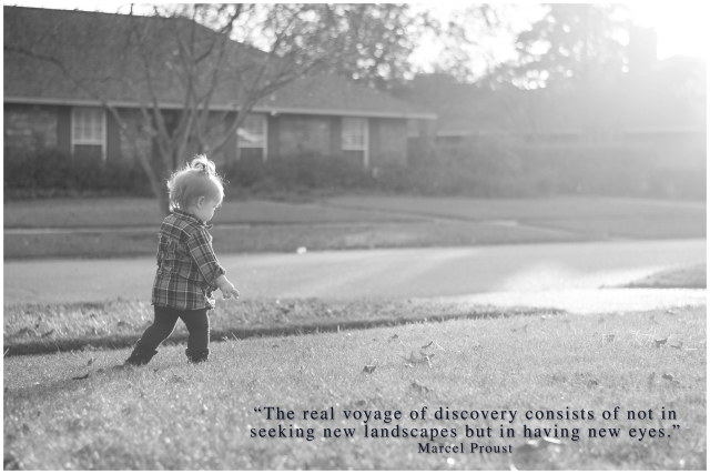 Nacogdoches photographer image of toddler girl and quote by Marcel Proust