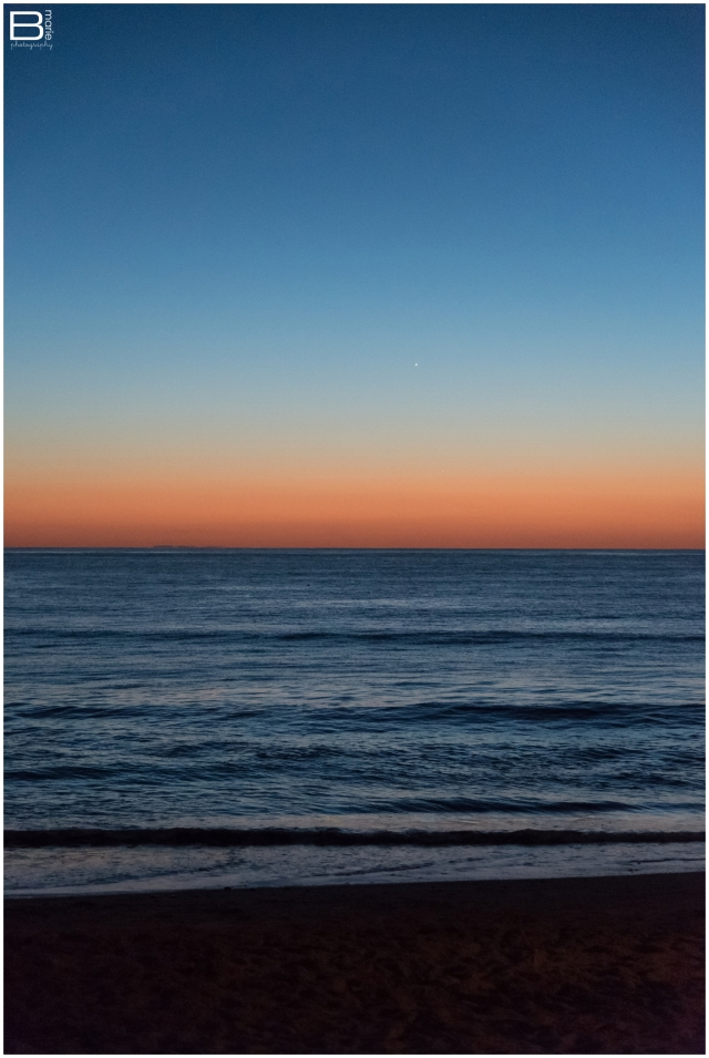 Nacogdoches photographer image of dusk on the water in San Clemente, CA