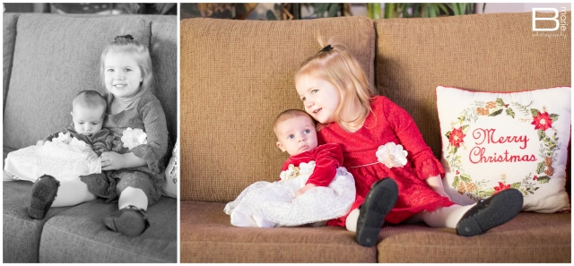December installment of Nacogdoches photographer's monthly photo project with images of her two daughters