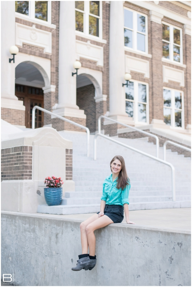Nacogdoches photographer images of springtime senior portrait shoot for SFA graduate