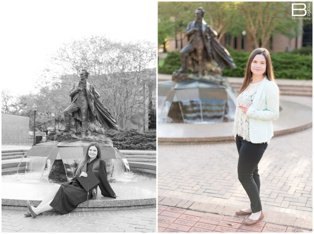 Nacogdoches photographer image of SFA graduate on SFA campus
