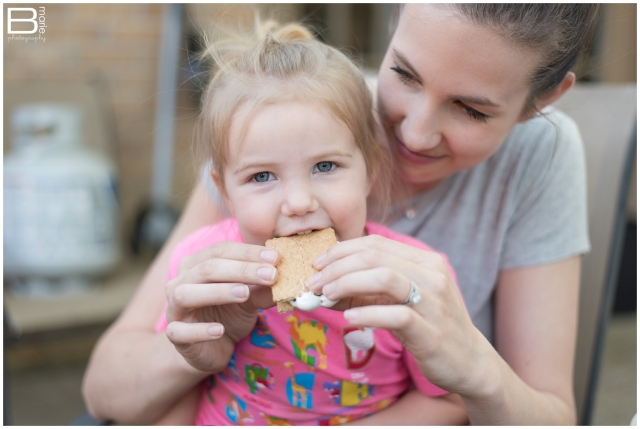 Nacogdoches photographer images of making s'mores with daughter, Peanut as an item on a yearly bucket list