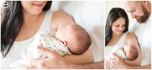 Houston photographer newborn baby boy portraits with neutral color tones in Austin, Tx