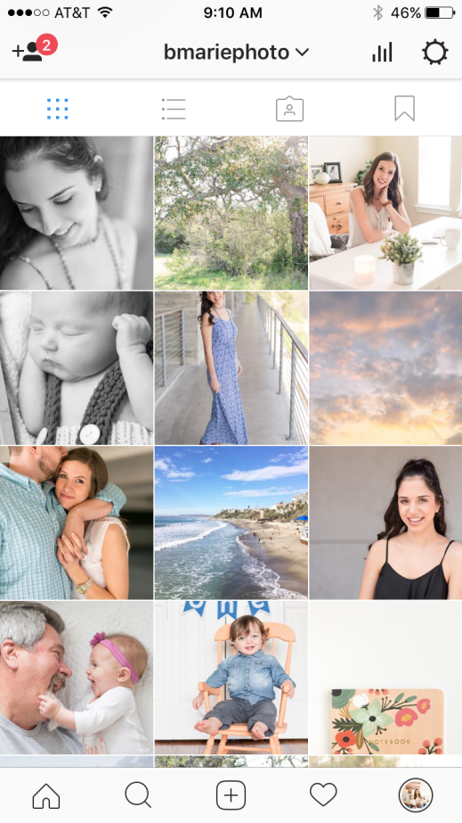 Kingwood photographer image of Instagram grid
