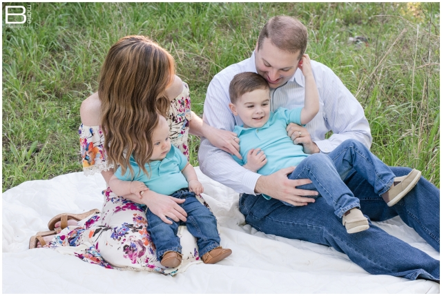 Kingwood family photographer spring portrait session with two young boys