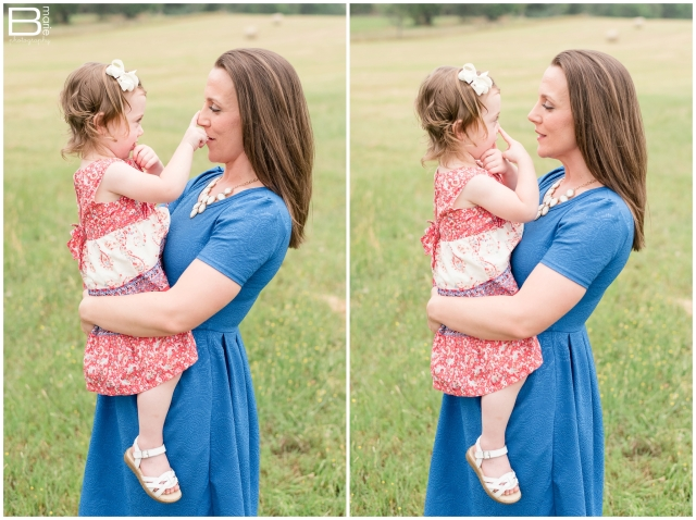 Kingwood family photographer spring family portrait session in open field in Nacogdoches